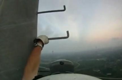 Réparateur d'antenne à 540m d'altitude