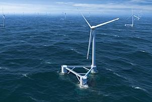 Windfloat – Plate-forme flottante pour éoliennes