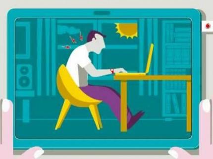 Eviter le mal de dos avec un ordinateur portable
