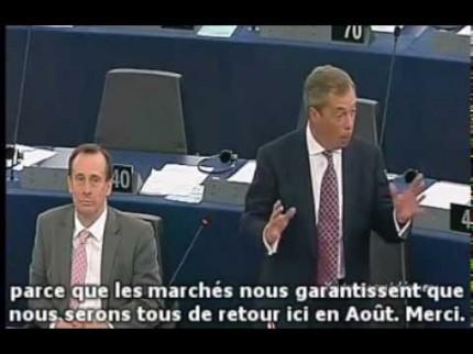 Nigel Farage: Ne vous éloignez pas trop cet été, nous serons tous de retour en Août