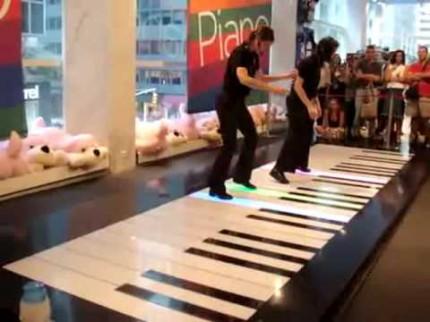 La toccata de Bach sur un piano géant