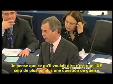 Nigel Farage s'adresse à François Hollande