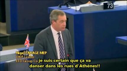Nigel Farage sur la Grèce et l'Europe