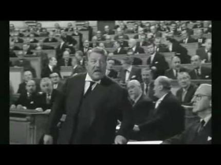 L'Europe par Jean Gabin dans «Le président»