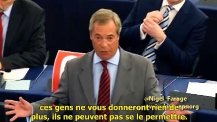 Nigel Farage à M. Tsipras «C'est le moment de sortir de la zone euro la tête haute»